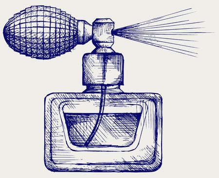 Perfume bottle  Doodle style Stock Illustratie