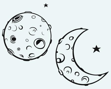 달과 달의 분화구 스톡 콘텐츠 - 27735880
