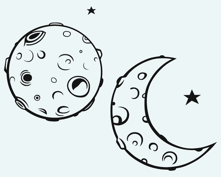 De maan en de maan kraters