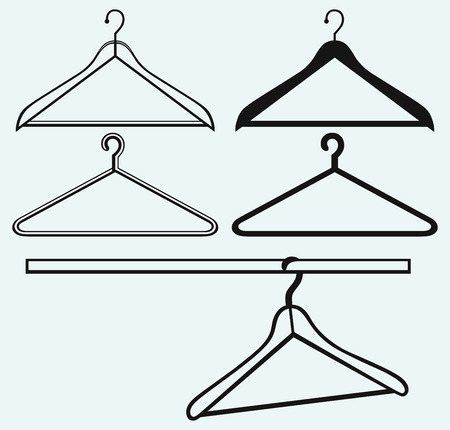 clothing rack: Clothes hangers