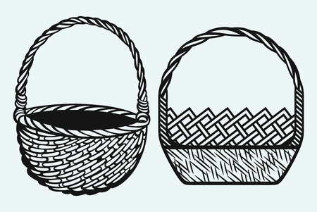 Empty wicker basket Vector