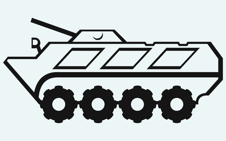 wheeled: Wheeled armoured personnel carrier