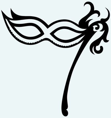 Mask for masquerade costumes isolated on background Vector