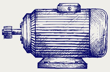 Style Doodle du moteur électrique