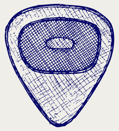 plectrum: Guitar plectrum  Doodle style Illustration