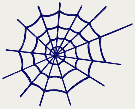 spider net: Spider net  Doodle style