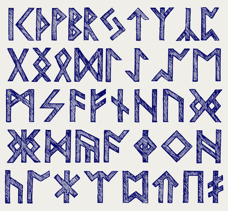 germanic people: Runic script  Doodle style