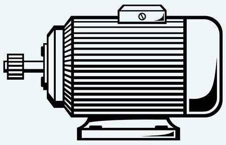 Moteur électrique Image isolé sur fond bleu Vecteurs