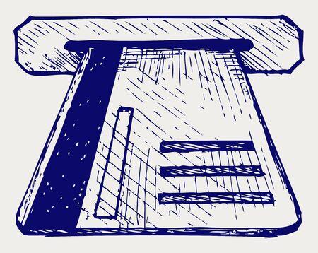 atm card: Tarjeta de cajero autom�tico. Doodle estilo