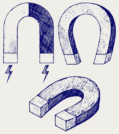horseshoe: Horseshoe Magnet. Doodle style