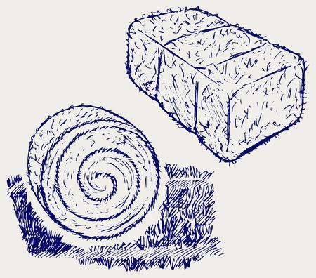 Botte de foin. style Doodle
