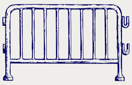 fence: Steel barricades. Doodle style