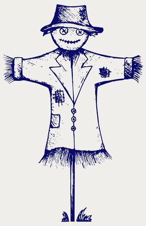 scarecrow: Scarecrow. Doodle style Illustration