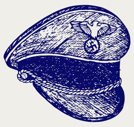 adolf: Nazi cap. Doodle style