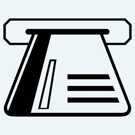 atm card: Tarjeta de cajero autom�tico. Aislado en el fondo azul Vectores