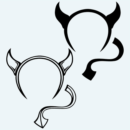 horns: Devils horns and tail