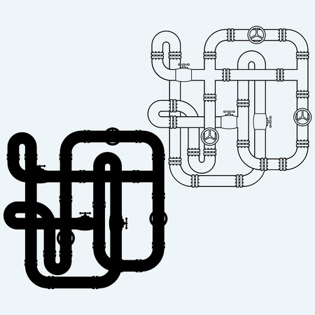 pipes: Maze of metal pipes