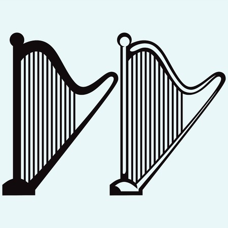 Illustration of lyre silhouettes