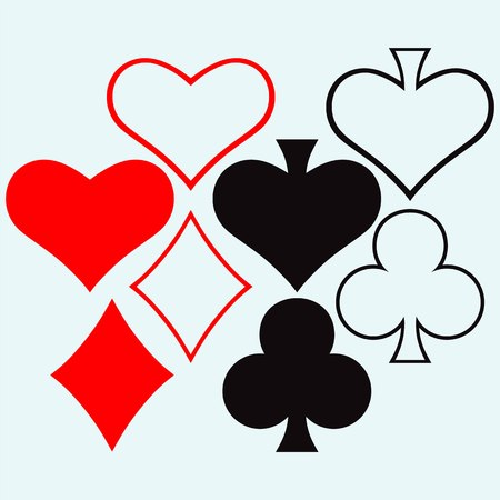 ace of hearts: Gambling style isolated on blue background