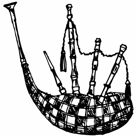 Scottish bagpipe doodle style