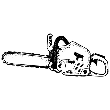scratchy: Chainsaw illustration Illustration