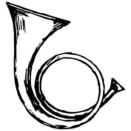 낙서 스타일에서 군사 트럼펫 그림 스톡 콘텐츠 - 63112433