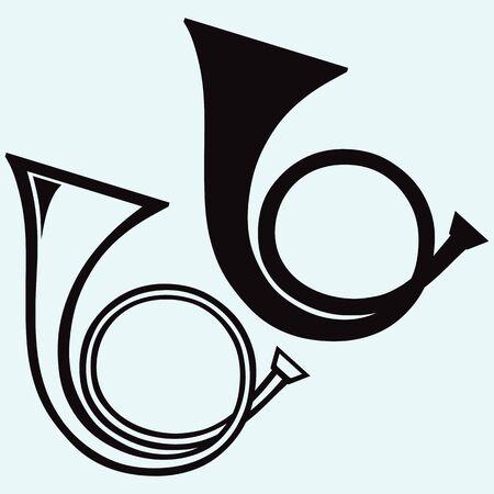 프렌치 호른 바람 악기 스톡 콘텐츠 - 63112480
