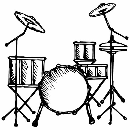 Drums. Isolated on white background.