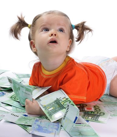Baby and euro. Stock Photo - 2571067