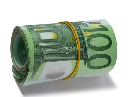 bankroll: Roll euro. Isolated