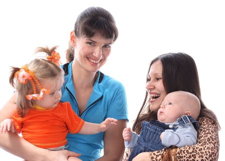 Two mothers with babies. Stock Photo - 2730607