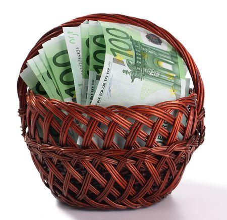 molly: Molly with euro. Stock Photo