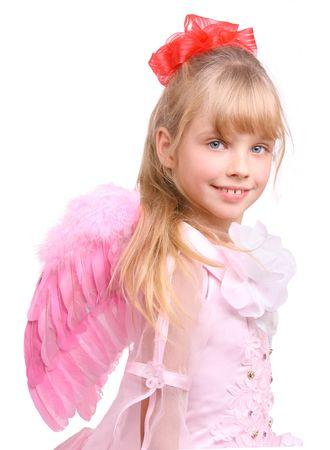 La chica en traje de ángel. Foto de archivo - 3929561