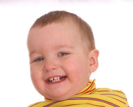 Portrait of smiling boy .Isolated photo