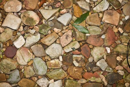 Abstract  texture of  stone pebbles. Background. photo