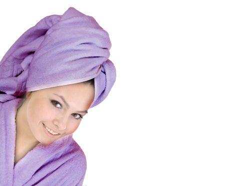 Beautiful young woman in spa. Health resort. Stock Photo - 4878836