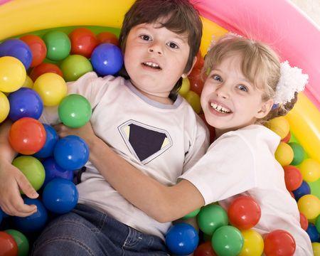 Happy birthday of children.Boy and girl. photo