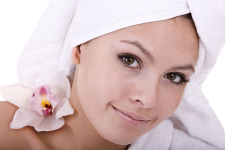 Beautiful young woman in spa. Health resort. Stock Photo - 5680246