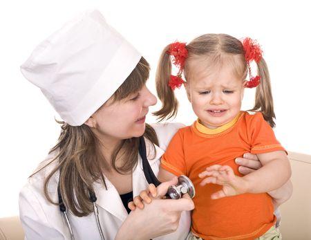 paediatrics:  Medicine and child. Doctor of  paediatrics. Isolated.