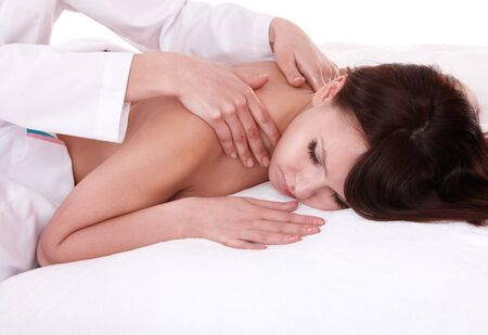 Young woman having massage. Body care. Stock Photo - 7777813