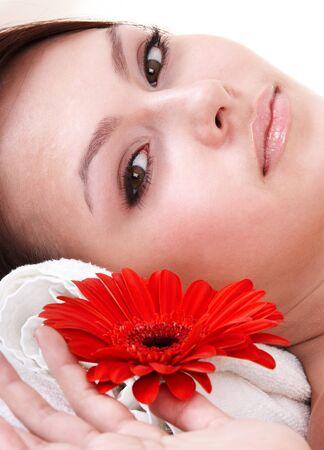 Beautiful young woman in spa. Health resort. Stock Photo - 7777820