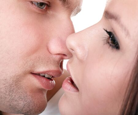 Couple of girl and man. Love and passion. Stock Photo - 7777827