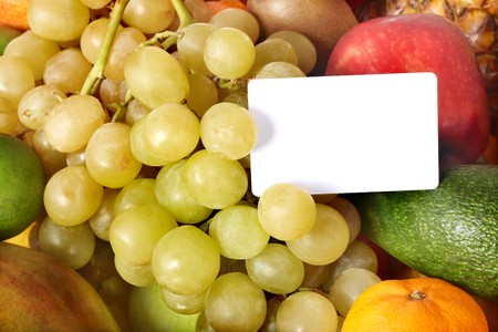 Group  fruit background with frame. Copy space. photo