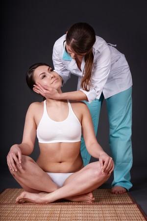 Young woman having thai massage. Stock Photo - 7810986