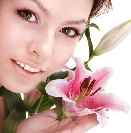 beauty parlour: Beautiful young woman in spa. Health resort.