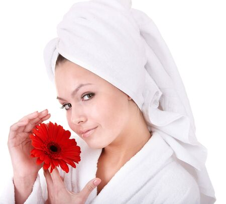 Beautiful young woman in spa. Health and beauty. photo
