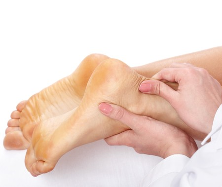 Massage of female leg. Health and beauty. Stock Photo - 7888611