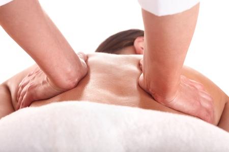 beauty therapy: Beautiful young woman  having  massage.