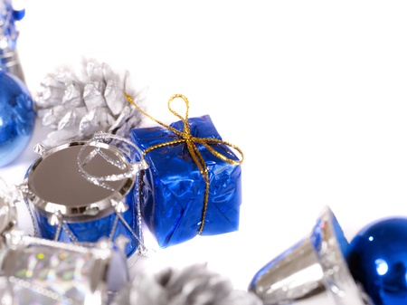 Christmas corner with jingle bells. Isolated. Close up. Stock Photo - 8332944