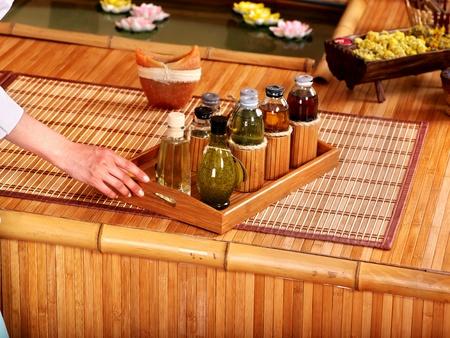bodegones: Spa Bodeg�n con bamb� y agua.